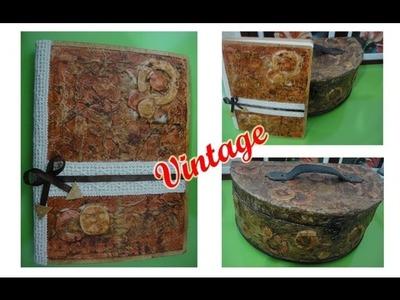 DIY♥Hacer una Libreta Vintage (Scrapbook)(Decoden)
