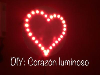 DIY tutorial corazon luminoso