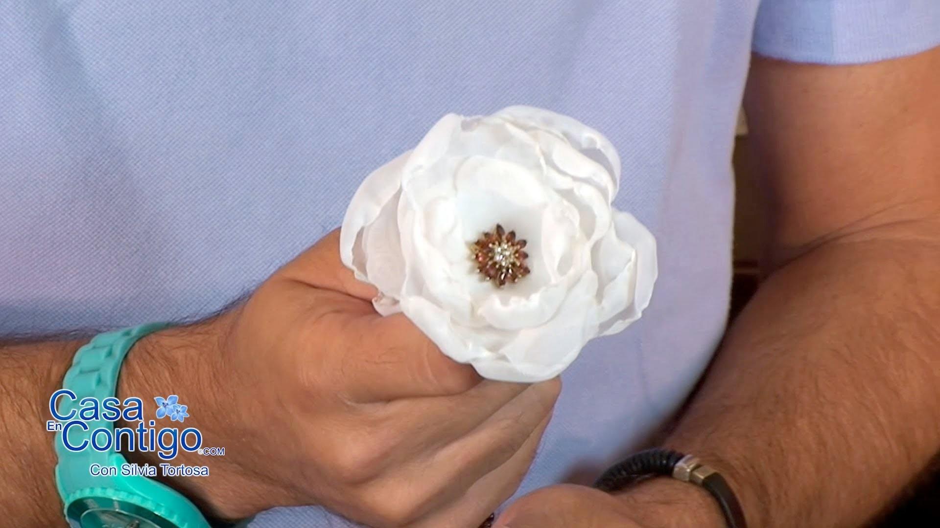 Manualidades o Craft de Flores de Organza con Javier Moyano