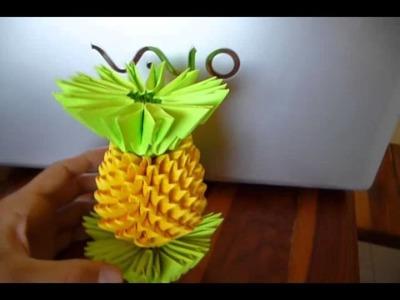 Origami Piña 3D