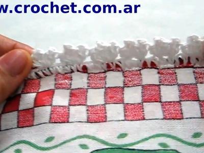 Puntilla N° 3 en tejido crochet tutorial paso a paso.