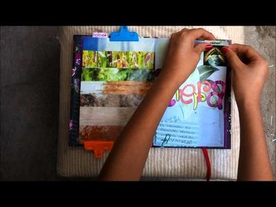 TUTORIAL SCRAPBOOK ♥ SMASH BOOK Haz una pagina conmigo ♥ (22 -04 -2013)