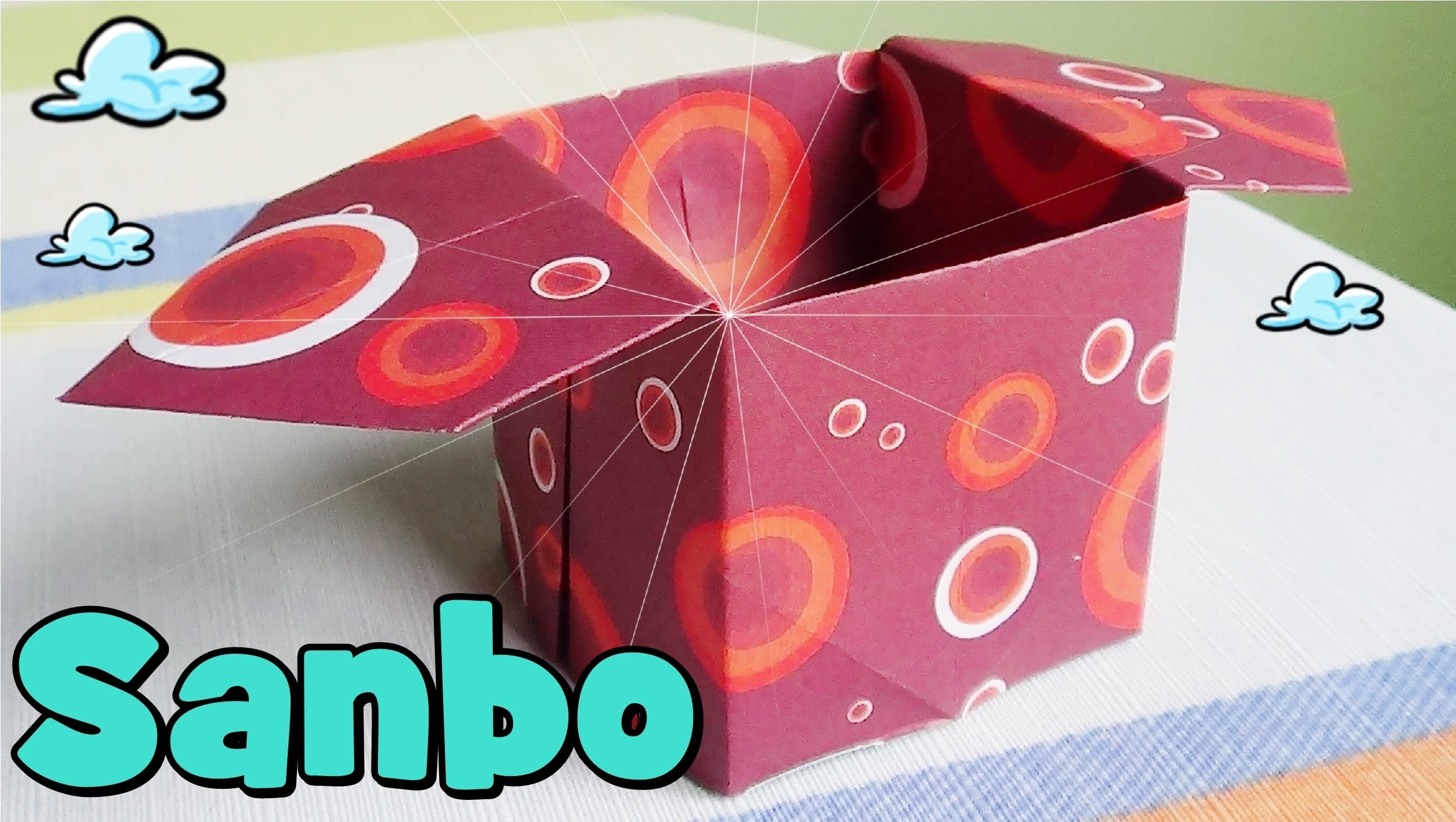 Caja de Papel - Origami Sanbo