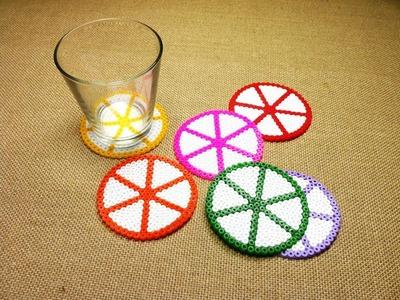 Cómo hacer posavasos con cuentas de plástico Hama Beads (Tutorial DIY)