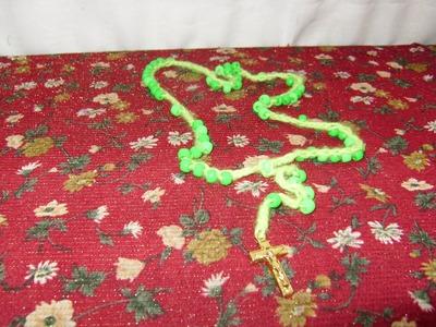Cómo hacer un rosario tejido con cuentas 1 de 2