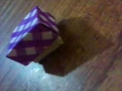 Como hacer una caja basica de origami muy facil y rapida♥