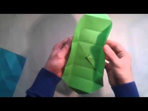Como hacer una caja de papel origami box   [Origami - Papiroflexia]