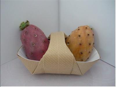 Como hacer una canasta con origami