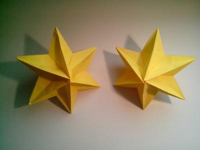 Como hacer una estrella modular de origami 3D (decoración navideña)