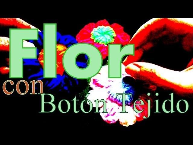 Cómo hacer una flor con botón al crochet (button puff stitch flower) -tejido para zurdos-
