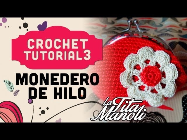 Crochet - Monedero de hilo