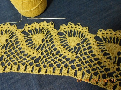 Crochet orilla de piñas parte 1 de 2