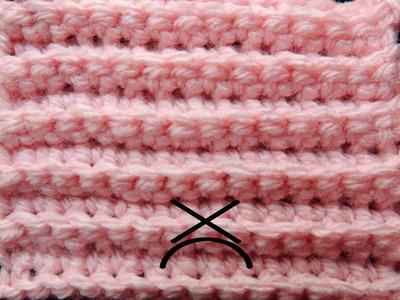 Curso Básico de Crochet : Punto Bajo tomando la Hebra Posterior