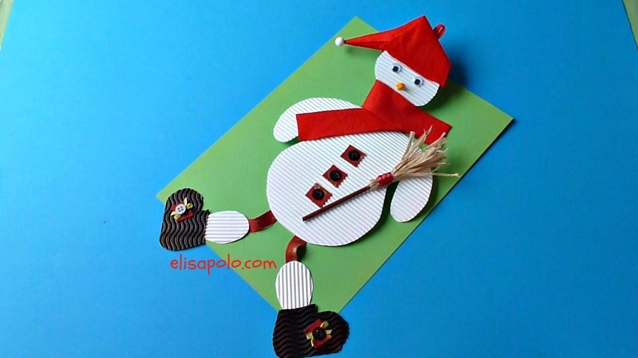 DIY, Cómo hacer un Muñeco de Nieve, Paper Snowman.