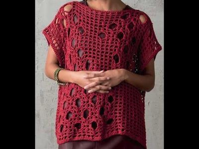 Gráficos para tejer chaleco suelto a crochet