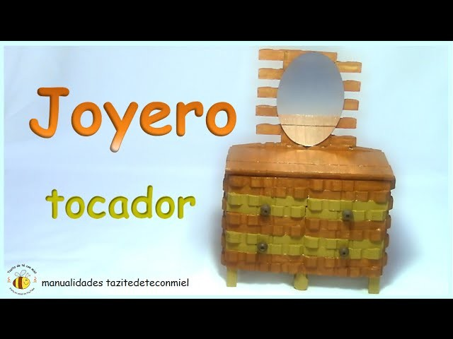 Manualidades: joyero tocador hecho con pinzas de madera. crafts