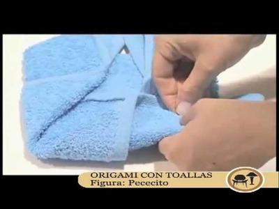 Origami con toallas: Pececito
