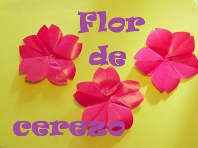 Origami - Papiroflexia. Flor de cerezo, muy bonita y sencilla