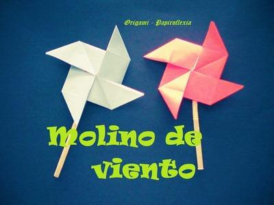 Origami - Papiroflexia. Molino de viento, muy fácil