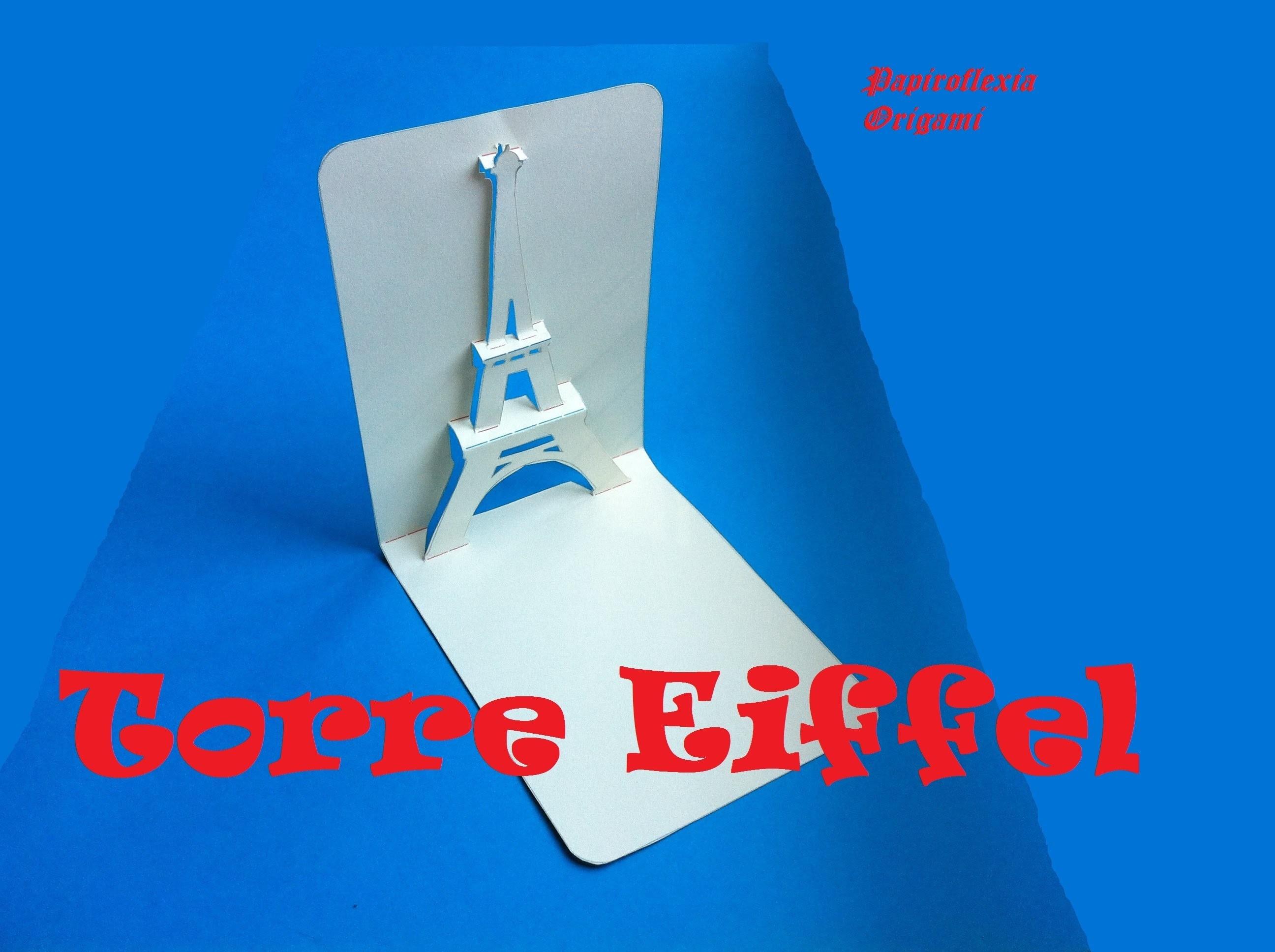 Pop Up. Manualidades. Torre Eiffel tarjeta, Card 3D.