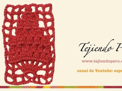 Punto fantasía en crochet # 24: arbolito de piñas!