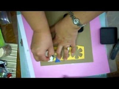 Técnica de sombreado con plantillas para scrapbooking