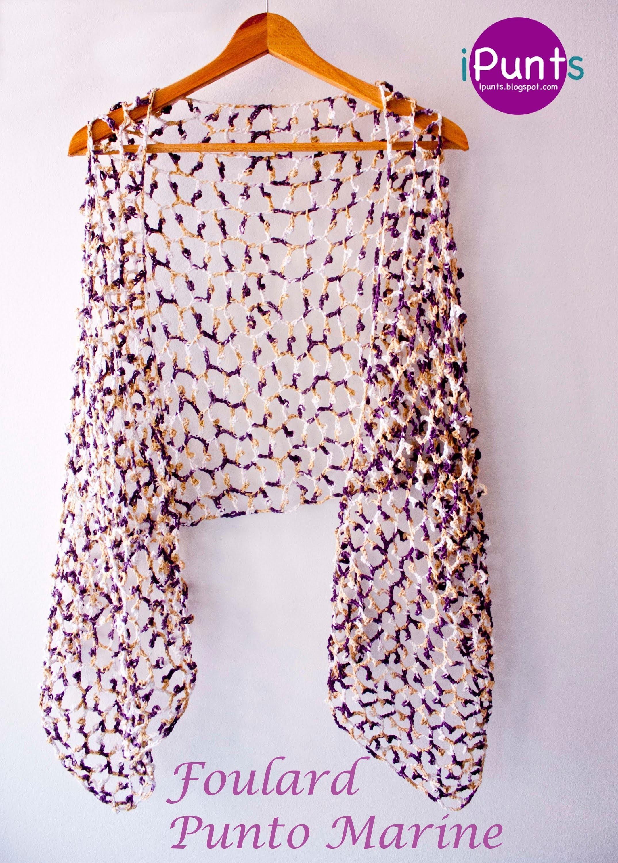 Aprende Punto Marine a crochet paso a paso y confecciona un foulard