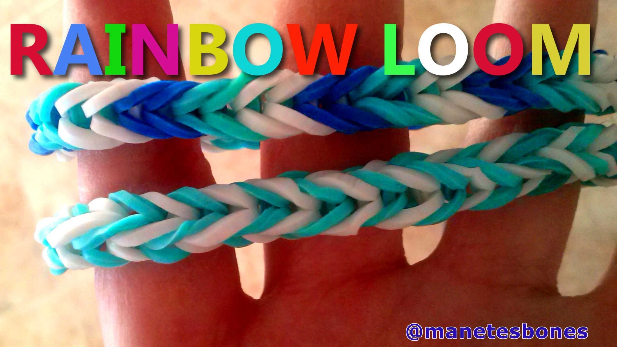 Cómo hacer una pulsera rainbow loom sin telar | Tutorial DIY