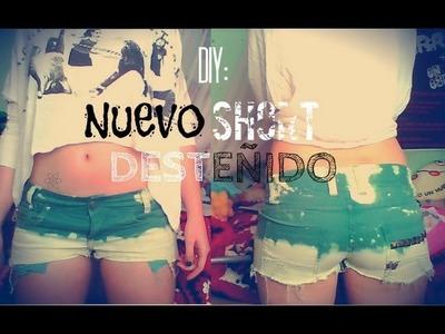 ♥ DIY: Cómo Hacer Un Short Desteñido y Tacheado ♥