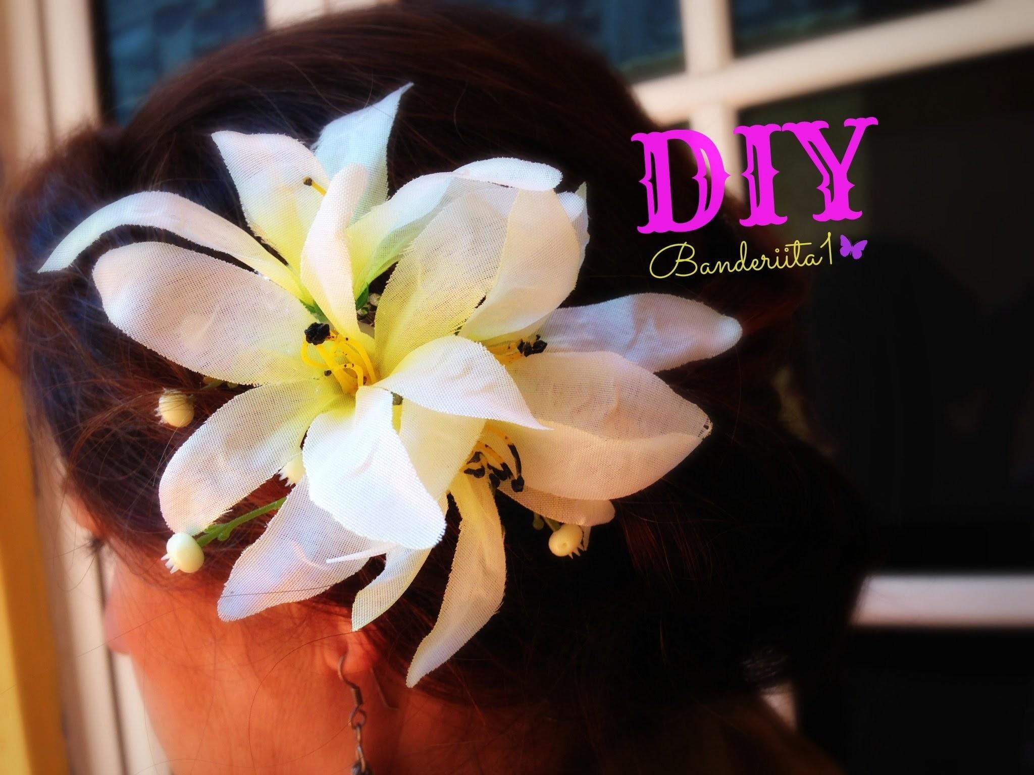 DIY Peineta Floral-Floral Comb Tutorial