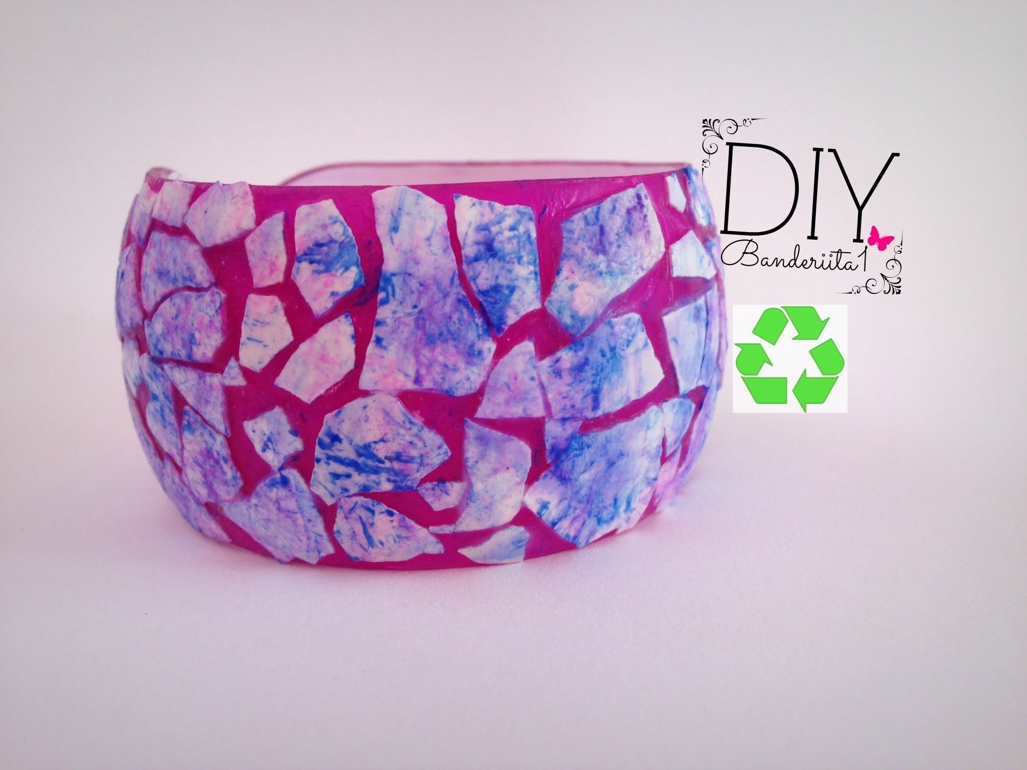 DIY Pulsera Reciclada. Recycled Bracelet Tutorial