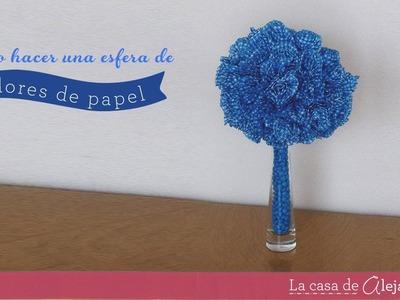 Esfera de flores de papel - DIY paper flower sphere