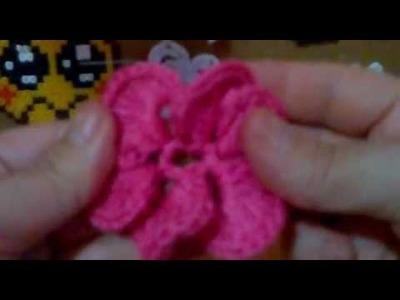 Flor zinia de crochet 2.2
