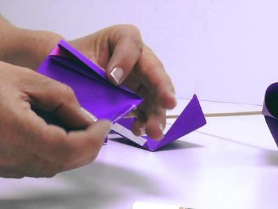 Flores de papel - Flor Origami - DYI Origami flores