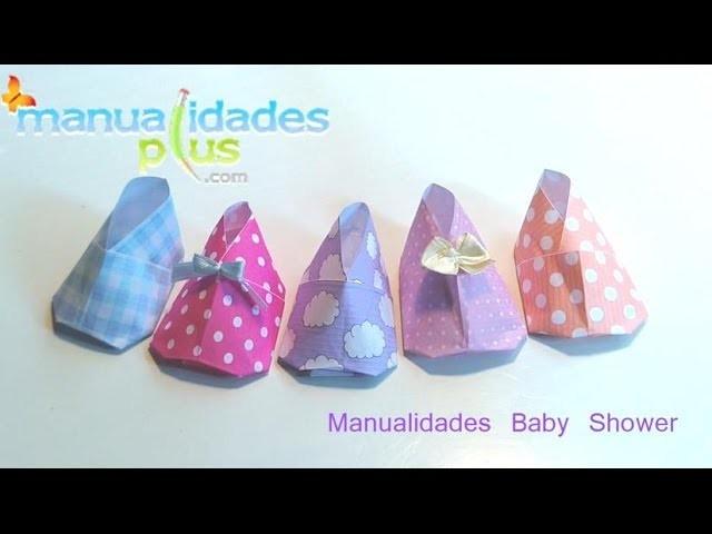 Manualidades Baby Shower: Zapatito Bebé en Origami (Fácil)