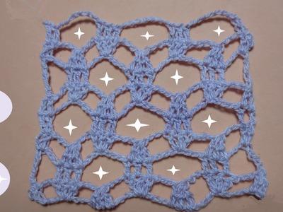 Muestra lila crochet