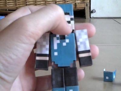 Papercraft #7 Mi Skin y con armadura de DIAMANTE removible