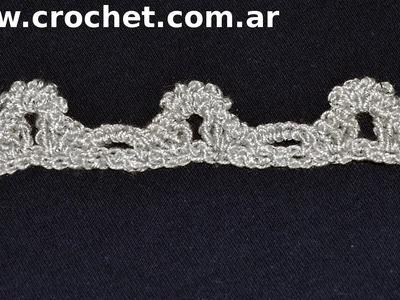 Puntilla N° 47 en tejido crochet tutorial paso a paso.