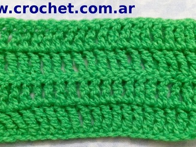 Punto Alto Doble en tejido crochet tutorial paso a paso.
