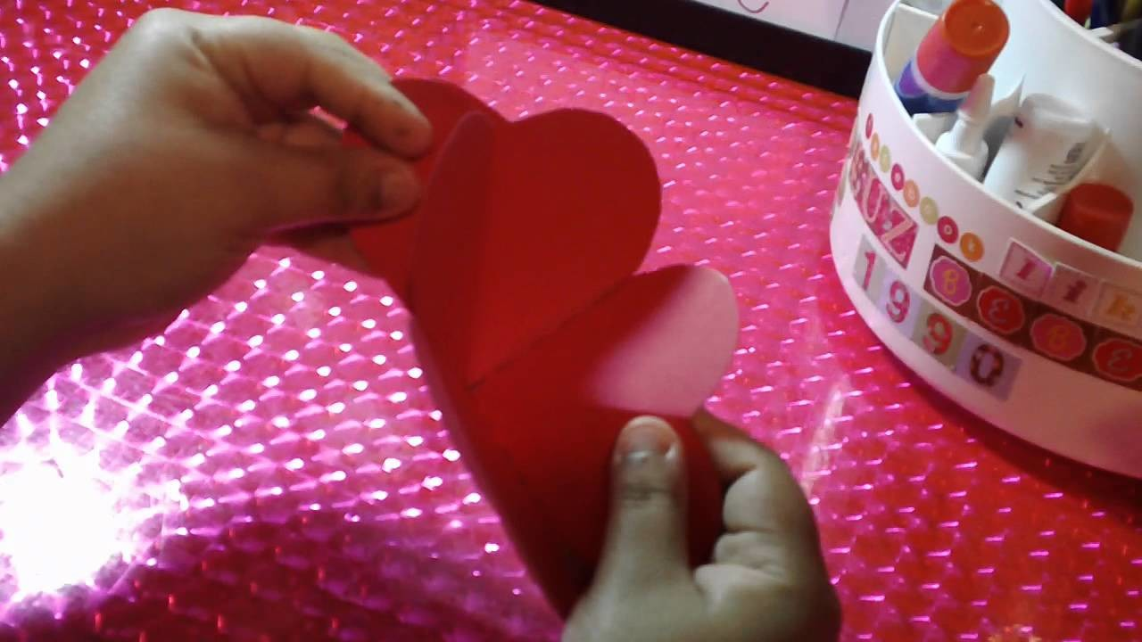 SAN VALENTIN:tarjeta SCRAPBOOK corazon POP UP