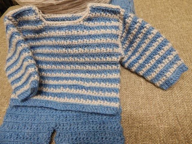 Sueter para Bebe Crochet parte 1 de 2