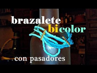 ❤ Brazalete DIY Bicolor con pasadores ❀ | Tutorial Bisutería DIY