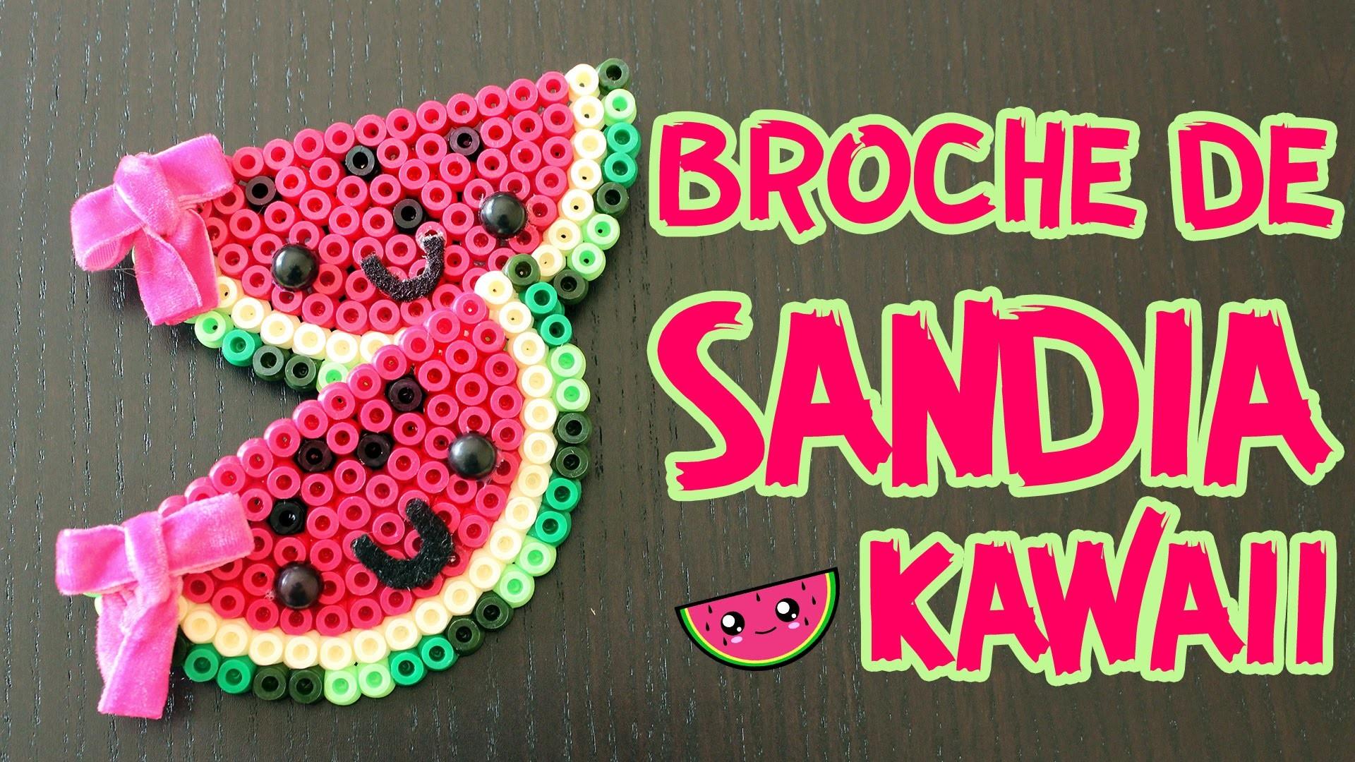 Broche sandía en Píxel Art  (Manualidades fáciles con hama beads)