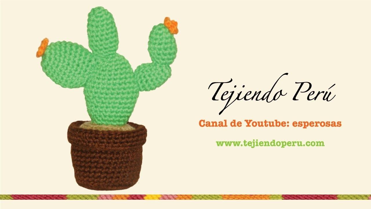 Cactus nopal tejido en crochet (amigurumi)