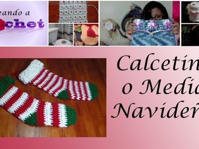 Calcetines o Medias Navideñas en Crochet