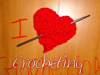 Como hacer Corazón Tejido a Crochet para San Valen