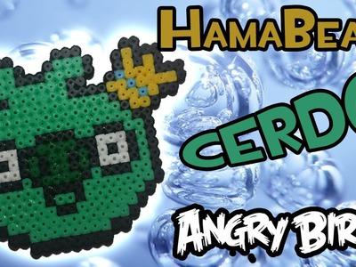 COMO HACER EL CERDO DE ANGRY BIRD | Hama Beads - Perler Bead