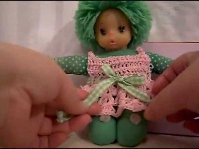 Cómo hacer un vestidito tejido a crochet 2 de 2.