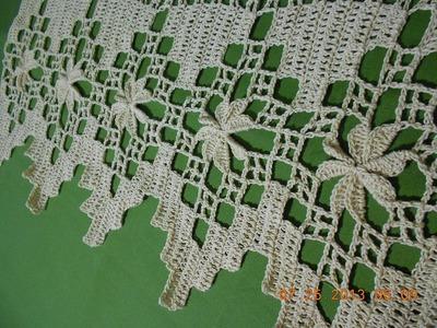 Crochet orilla en picos con flor 3 de 4