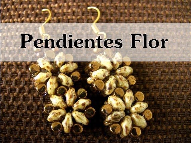 DIY Abalorios - Pendientes Flor (rulla y Superduo )